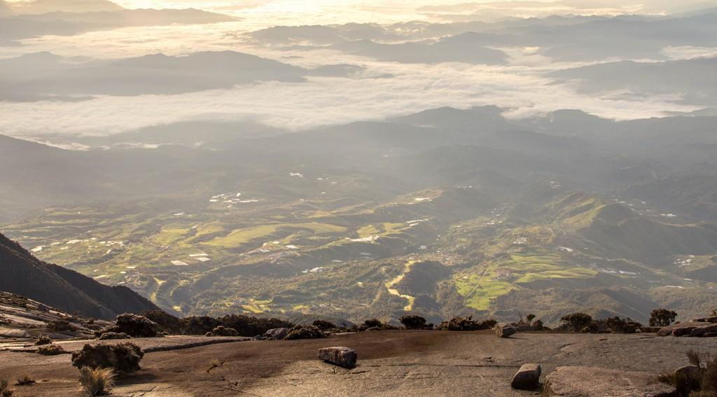 Utsikten från Mount Kinabaku är magnifik.