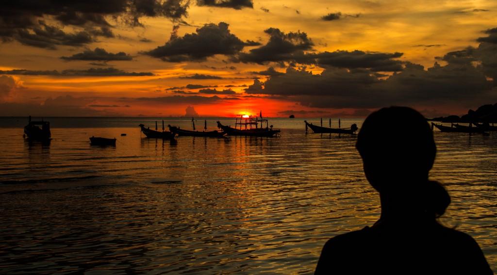 Solnedgång på Koh Tao.
