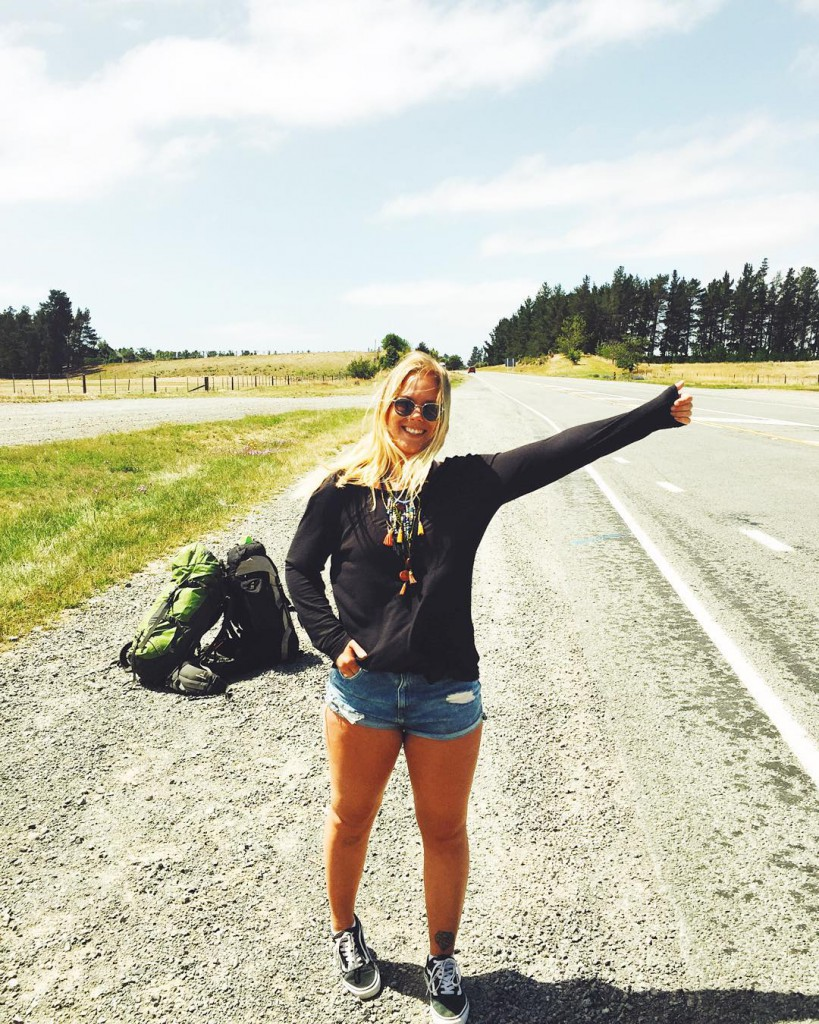 Hitchhike is a cool experience. Photo: Erika Kantonen