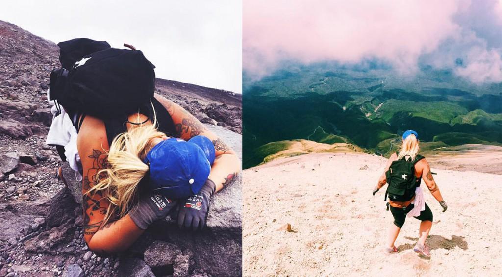 Mount Taranaki in New Plymoth is 2 518 meters above sea level. Nice climbing. Photo: Erika Kantonen