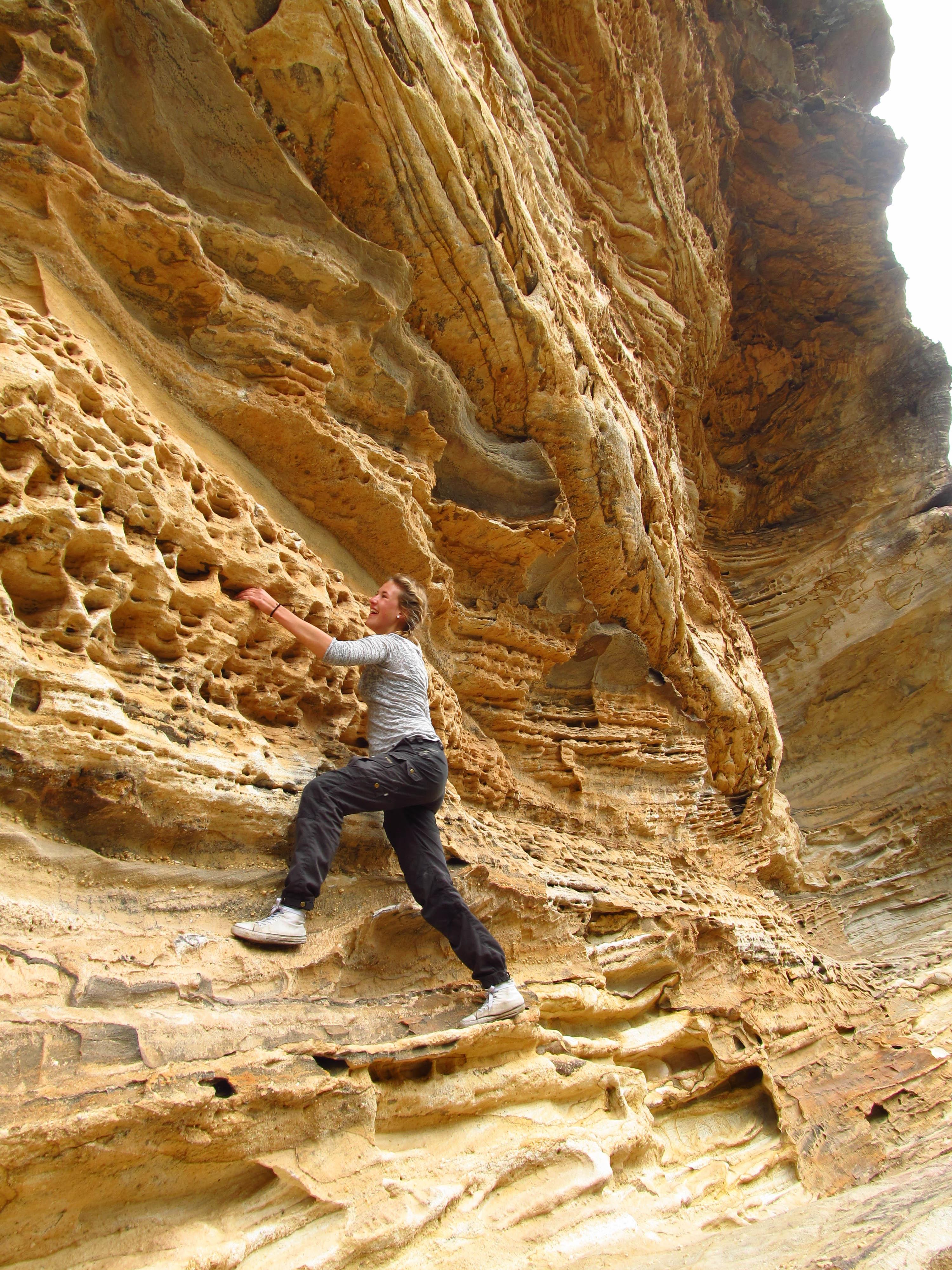 Britta i nationalparken Blue Mountains i Australien. Foto: Privat