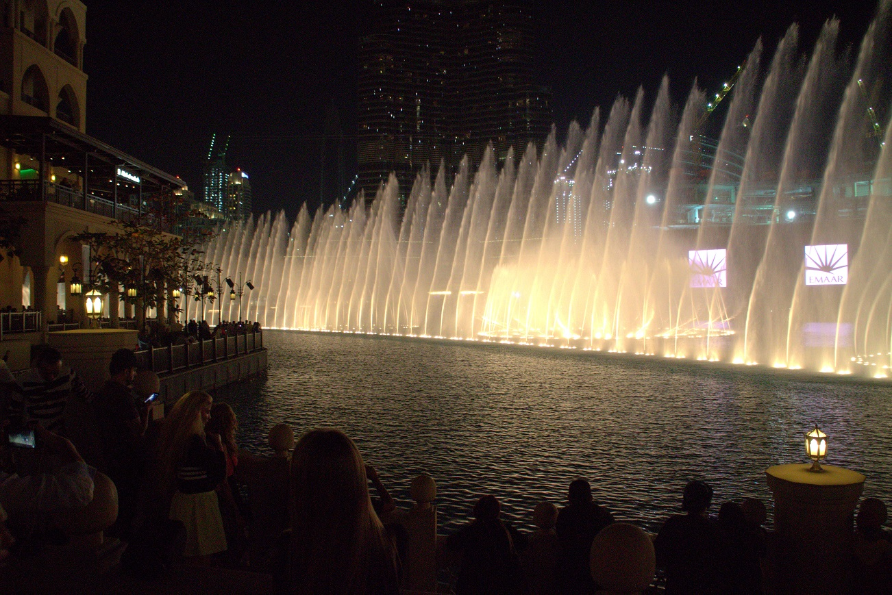 Dancing fountain show. Photo: Josefine Nilsson