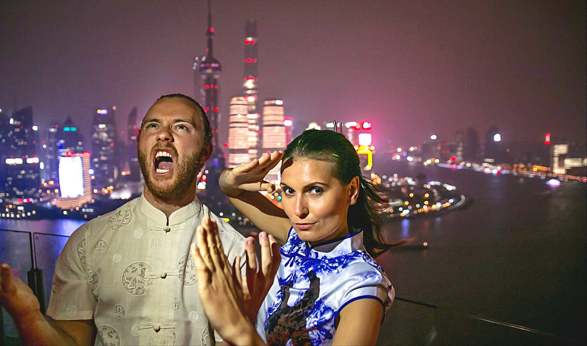 Michael in Shanghai with his friend and colleague, the photographer Natalia Anja. Photo: Global Degree