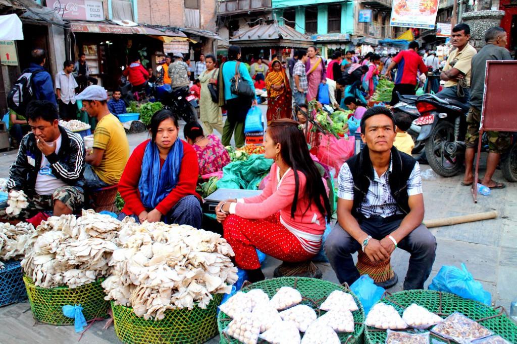 På många ställen jag besöker i Nepal är jag den enda turisten.