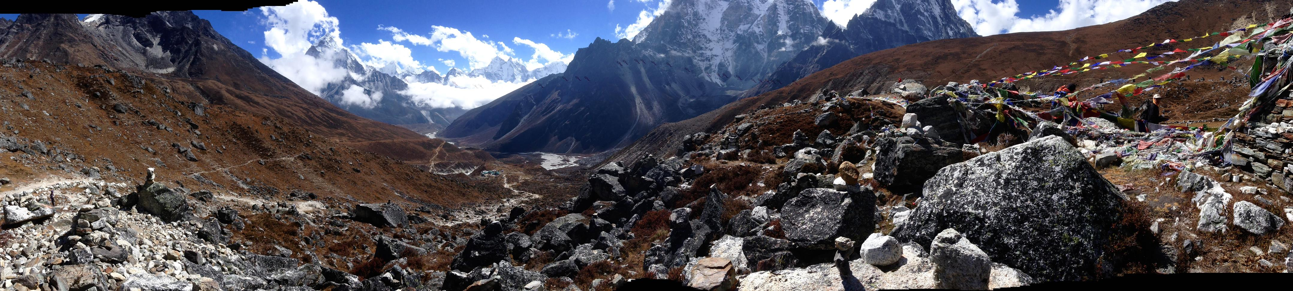 High above the tree line almost at Lobuche. Photo: Private