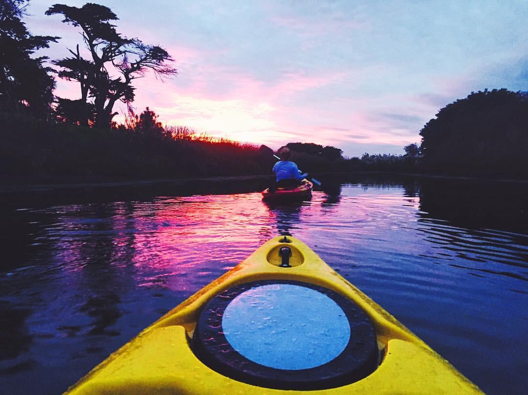 kayak in river