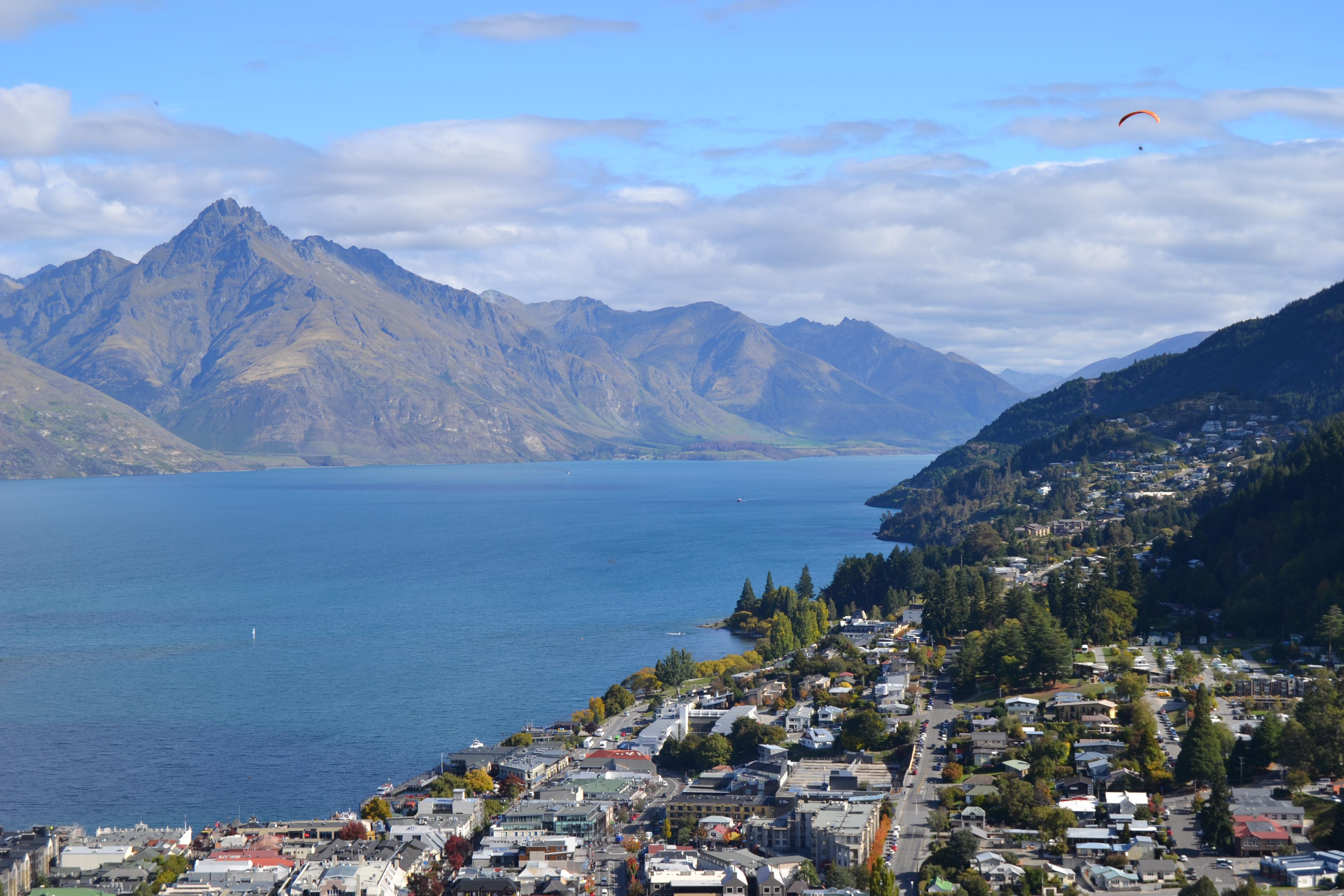 Utsikten i Queenstown, Nya Zeeland. Foto: Elsa Svorse