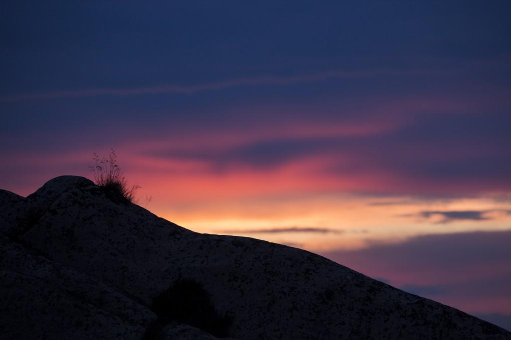 Dag 3: Solnedgång över svenska västkustsklippor. Foto: Mari Gutic