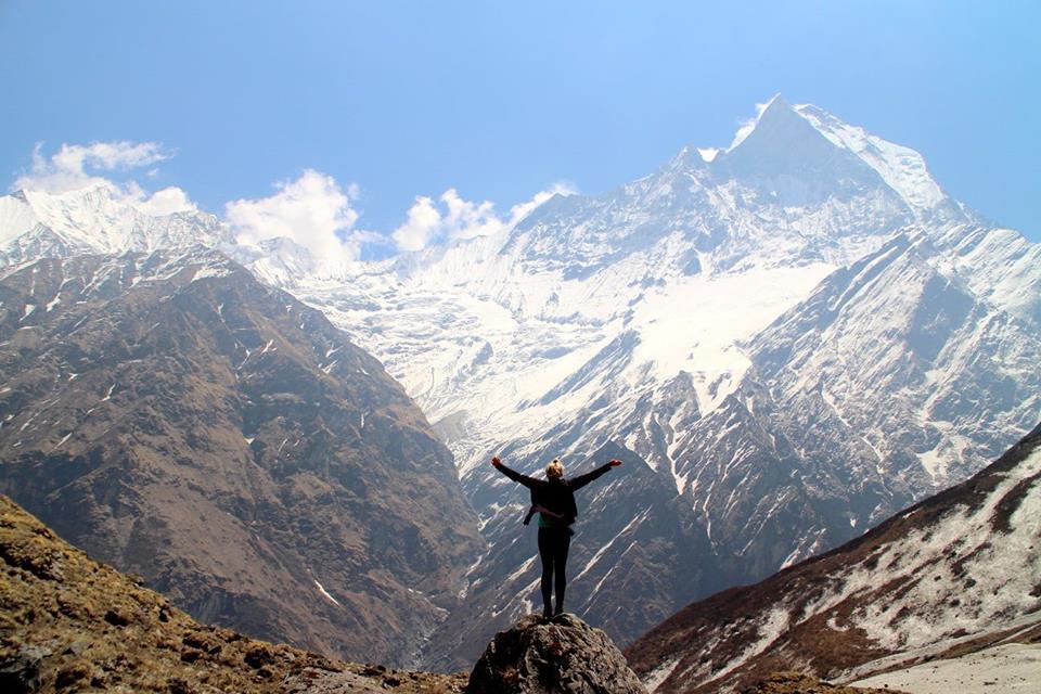För mig är frihetskänslan att resa oslagbar. Bild tagen på väg till Annapurna Base Camp i Nepal. Bild: Josefine Nilsson