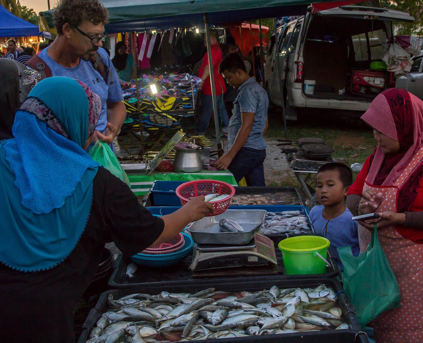 Dagens fiskfångst till försäljning.