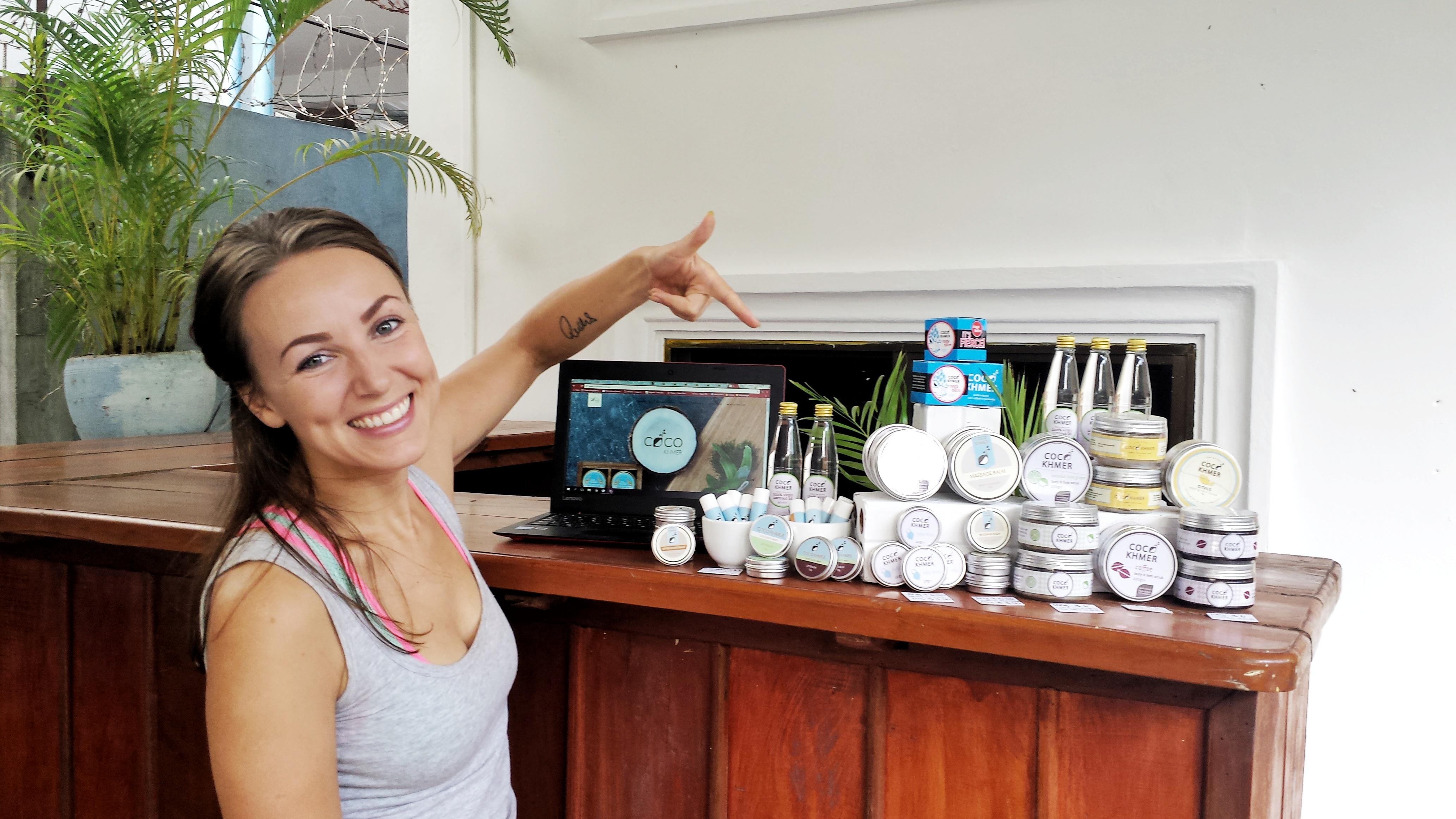 Coco Khmer´s produkter i vårt café