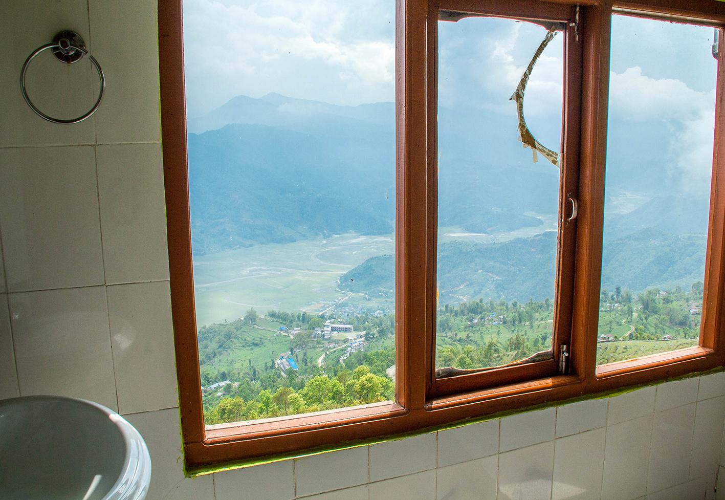 Utsikten från badrummet.