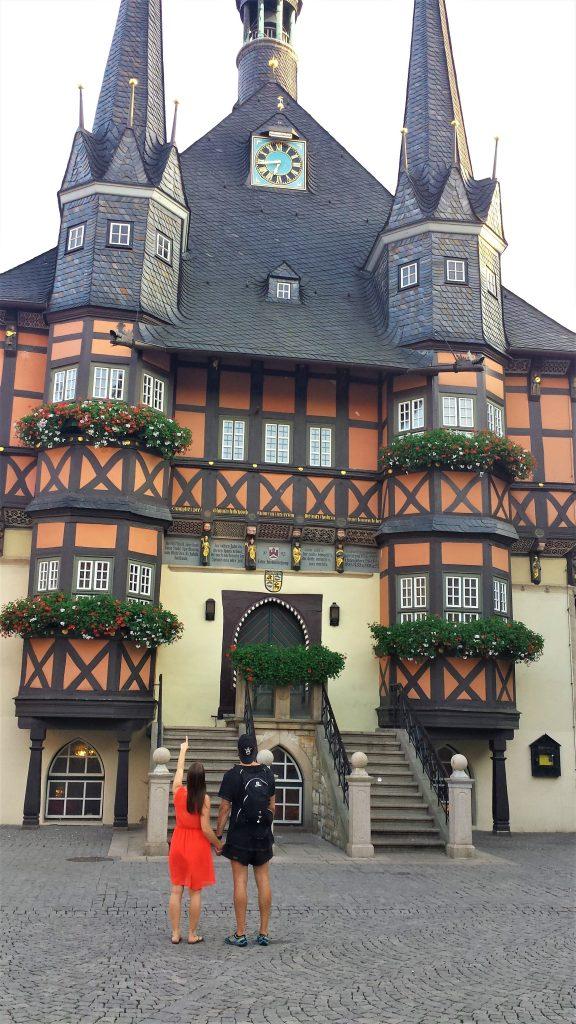 Rådhuset i Wernigerode där mina föräldrar gifte sig.