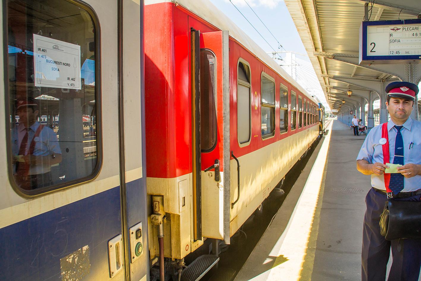 Mot Sofia i Bulgarien! Här hoppar vi på tåget i Bukarest.