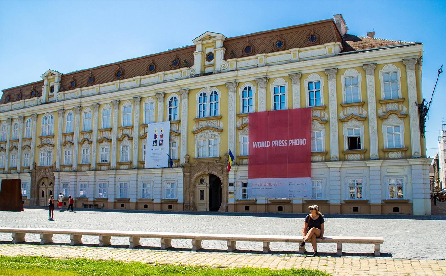 Barockpalatset på Uniri-torget.