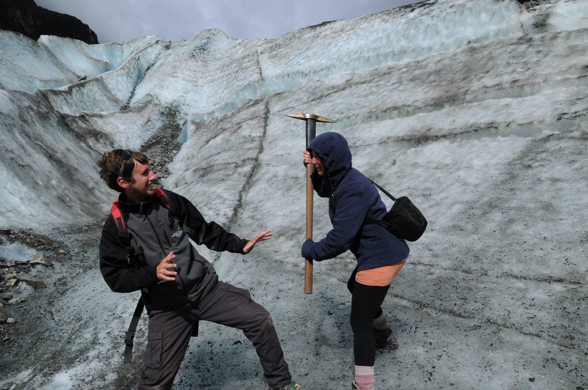 Äventyr på Fox Glaciär i Nya Zeeland. Foto: Privat