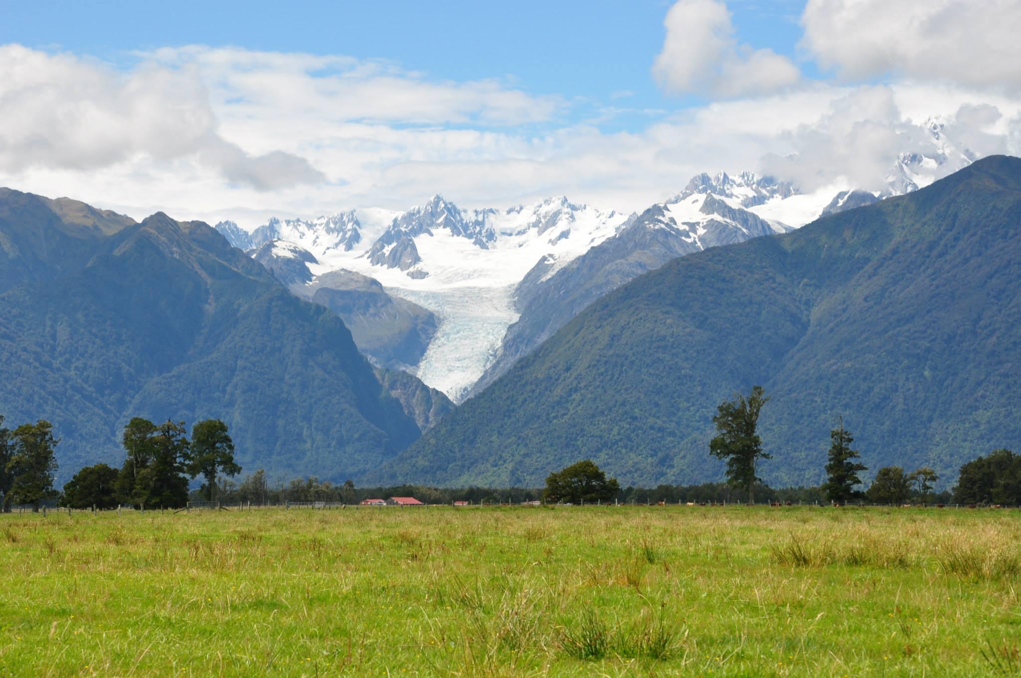 Under året i Nya Zeeland blev det ett besök vid Fox Glaciär. Foto: Privat