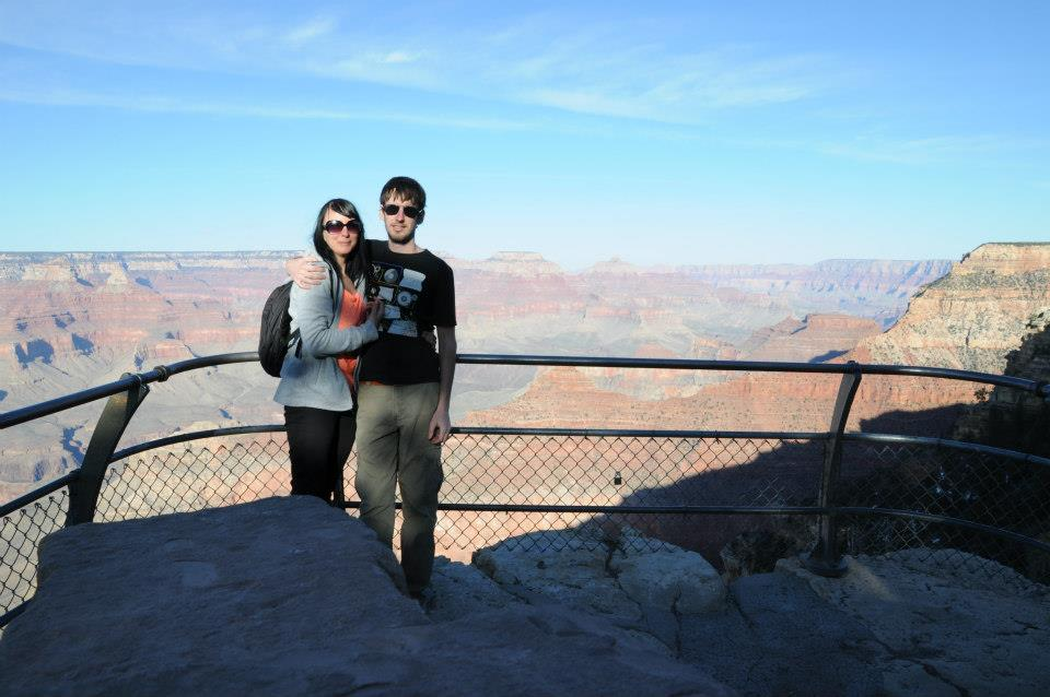 Poserar framför Grand Canyon i USA. Foto: Privat