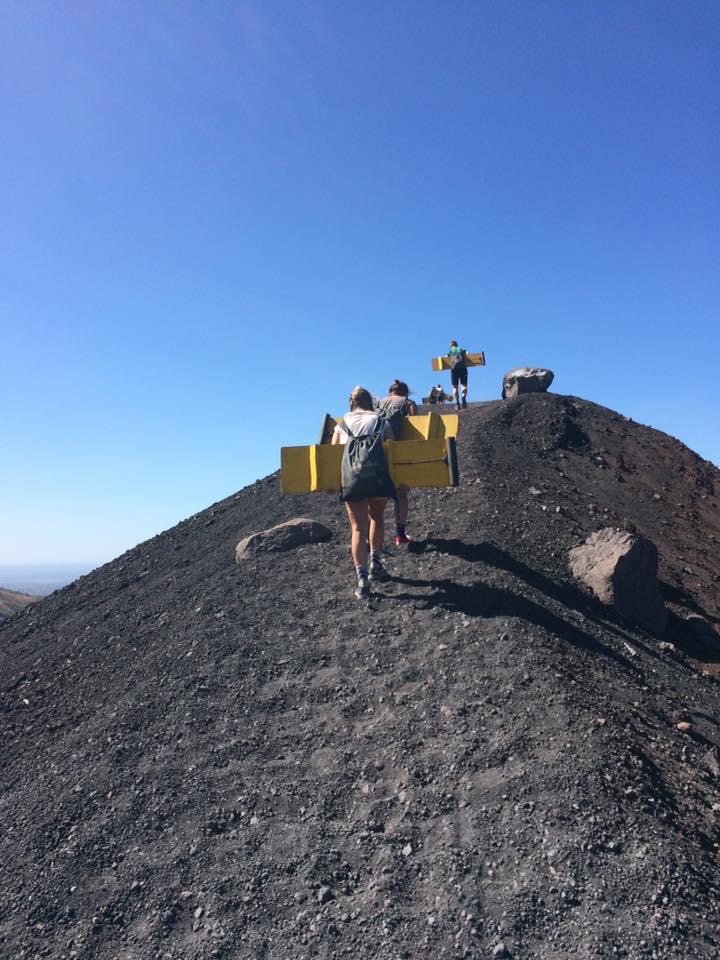Vulkan-boarding i Nicaragua. Foto: Privat