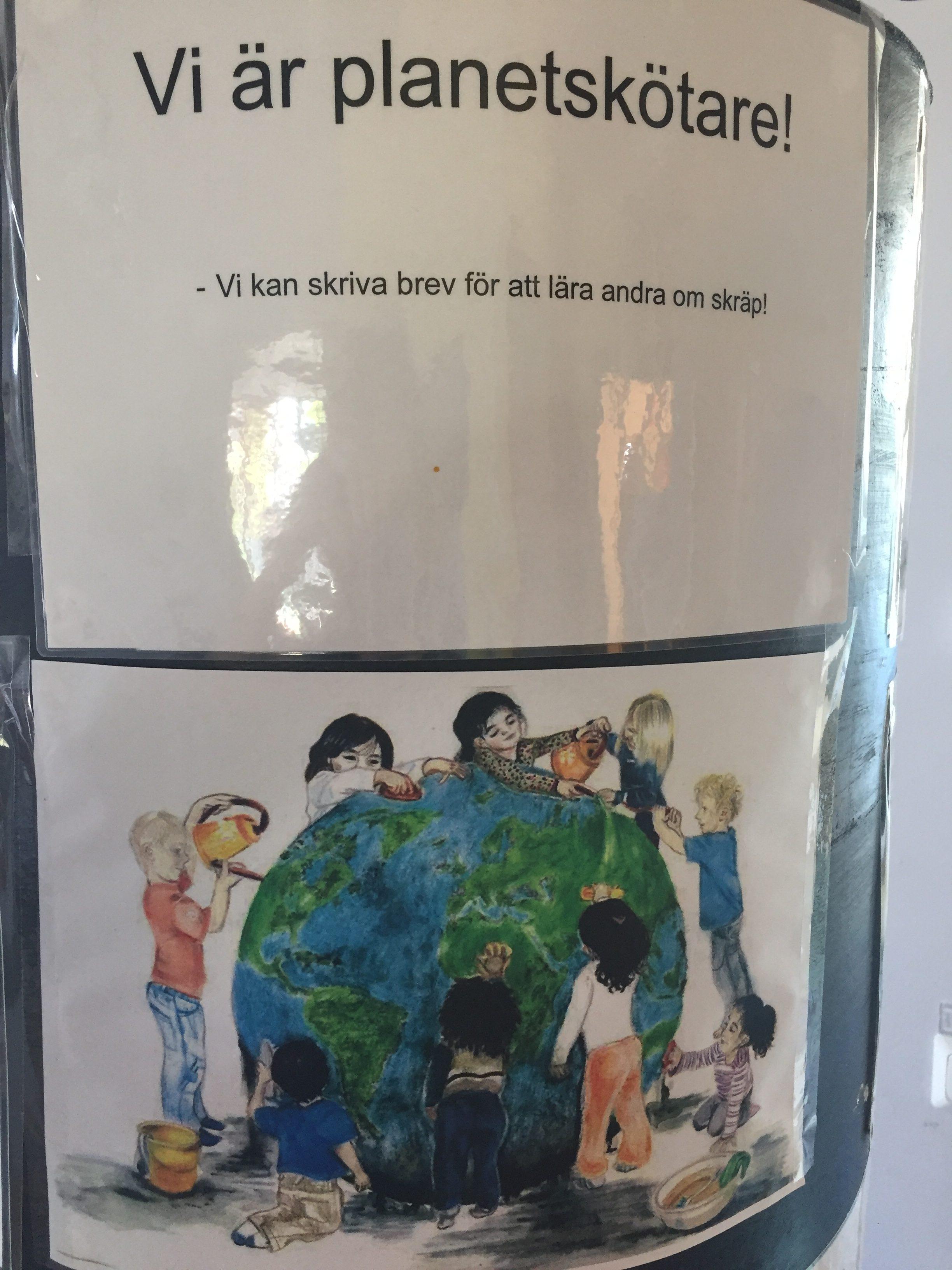 """Barnen och pedagogerna på förskolan kallar sig för """"Planetskötare"""". Ett så himla bra ord!"""